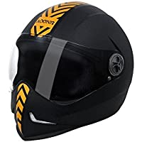 Steelbird SB-50 Adonis Dashing Black Golden with Plain visor,600mm