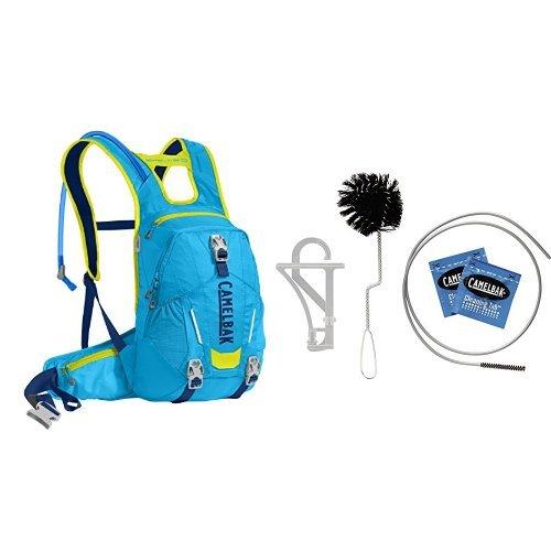 Bladder Cleaning Camelbak - CamelBak Skyline 10 LR Hydration Pack (Atomic Blue/Sulfur Springs) w/ Reservoir Cleaning Kit