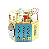LIUFS-TOY Children's Beaded Treasure Chest Puzzle Early Learning Hexahedron Toy Gift ( Size : M )