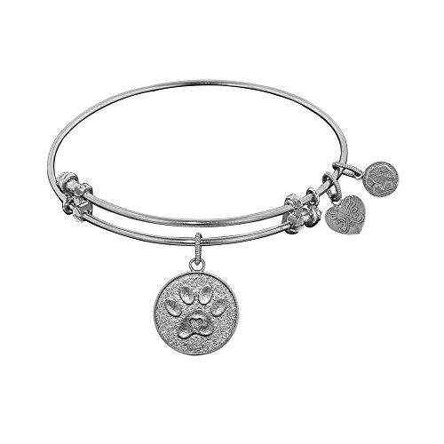 JewelryWeb Angelica Paw Print Bangle Bracelet -  RCB318511