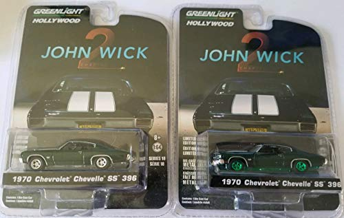 Greenlight Hollywood Series 18 John Wick Chapter 2 Limited Edition - 1970 Chevrolet Chevelle SS 396 (Regular & Chase Green Machine)