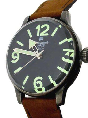 Aeromatic 1912 A1251 - Reloj para hombres, correa de cuero color marrón: Amazon.es: Relojes
