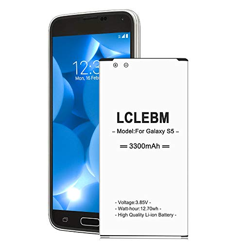 Galaxy S5 Battery   LCLEBM S5 Battery 3300mAh Li-ion Replacement Battery for Samsung Galaxy S5 G900A G900P G900V G900T G900F G900H G900R4 I9600 Galaxy S5 Battery Replacement