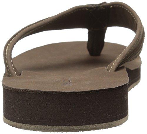 206 Collectieve Mens Elliott Flip Flop Chocoladebruin Nubuckleer