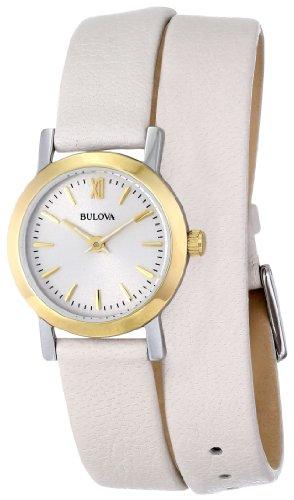 Bulova Women's 98L193 Analog Display Japanese Quartz Beige Watch