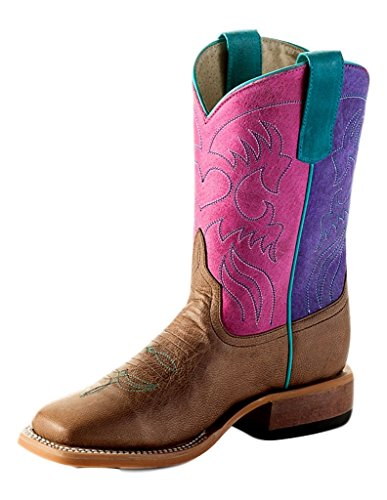 Anderson Bean Western Boots Girls Kid Roper 2 Child Bone Mad Dog K7903 (Bean Women Anderson Boots)