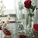 """3 Pc Gift Set - 9"""" High Crystal Vase, Picture Frame and Serving Bowl"""