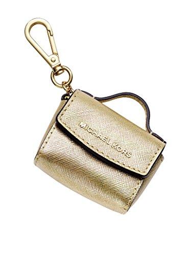 Michael Kors Ava Keychain (Pale Gold) (Key Chain Kors Michael Gold)