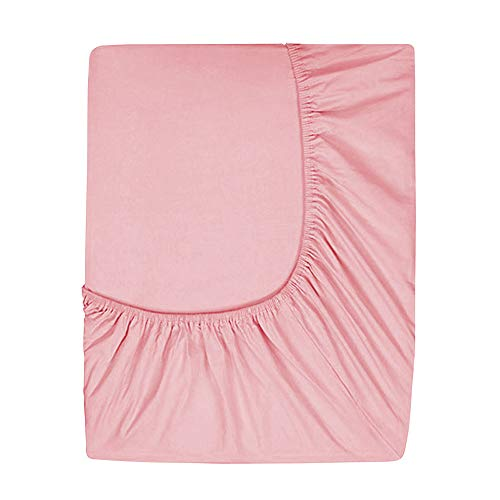 Red King Salmon - Prime Deep Pocket Fitted Sheet - Brushed Velvety Microfiber - Breathable, Extra Soft and Comfortable - Winkle, Fade, Stain Resistant (Salmon, California King)