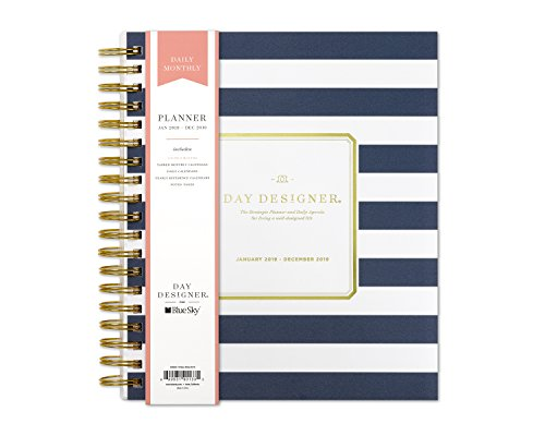 - Day Designer for Blue Sky 2019 Daily & Monthly Planner, Flexible Frosted Cover, Twin-Wire Binding, 8