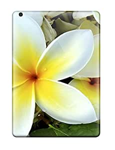Best New Arrival Cover Case With Nice Design For Ipad Air- White Yellow Flowers