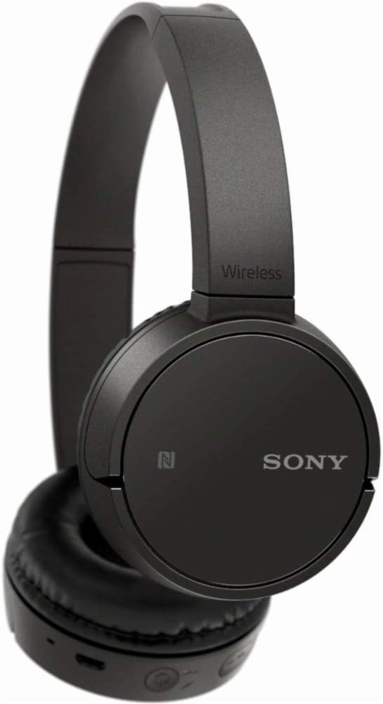 Sony WHCH500B Bluetooth On-Ear Headphones Wireless NFC with 20 Hours Battery Life - Black (International Version)