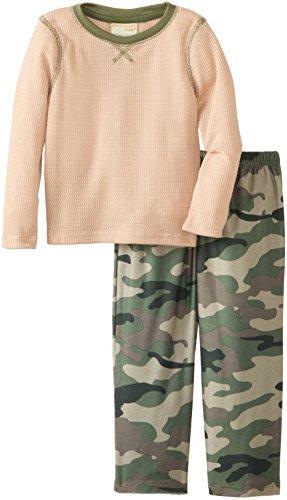 Komar Kids Little Boys' Camo Thermal Top Pajama Set