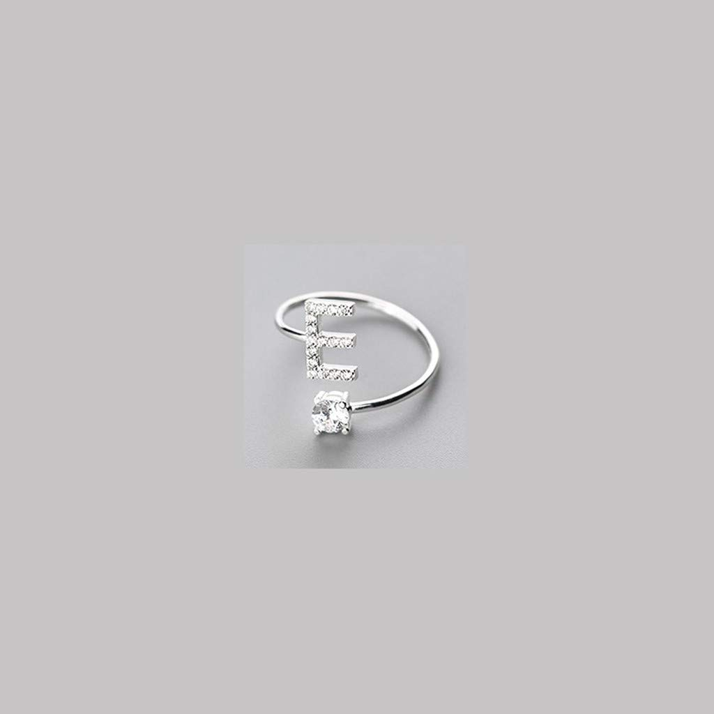 Sugely Women Ring Cute 26 Letters Opening With Diamond Ring Jewellery Accessories