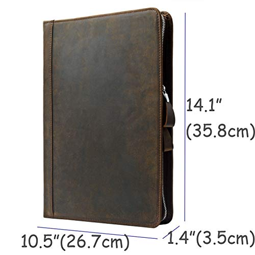 Rustic Leather Laptop Portfolio Padfolio with 3-Ring Binder for Letter A4 Paper, 13-inch MacBook Air/Surface Book by iCarryAlls (Image #6)