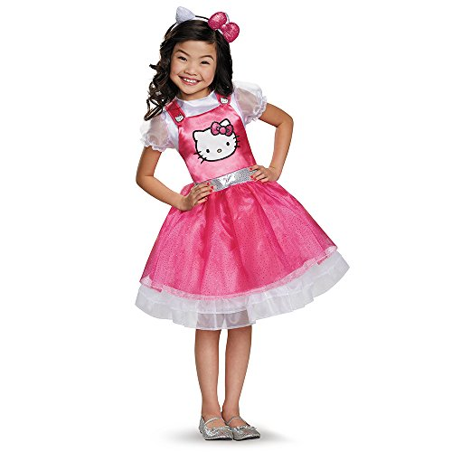 Hello Kitty Pink Deluxe Costume, Medium (Hello Kitty Girls Costume)