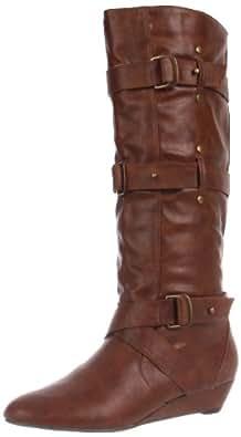 Madden Girl Women's Ilstrate Knee-High Boot,Cognac Paris,9.5 M US