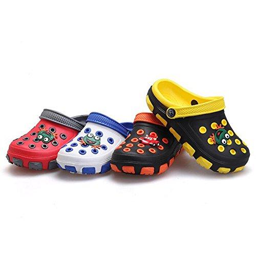 hibote Verano Niños EVA sandalias de playa Kids Chicas Boys Shoes Antideslizante Sandalias Infantil Kids Children Dibujos animados Linda Zapatos Blanco+Azul
