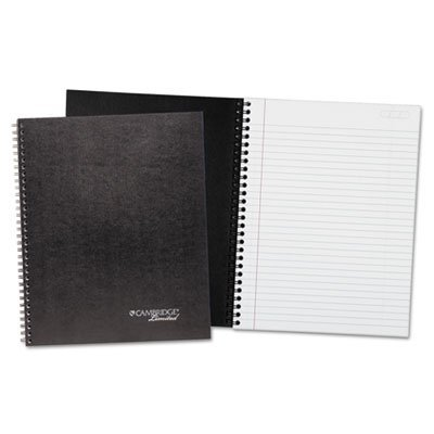 Wirebound Business Notebook Plus Pack, 8 7/8 x 11, Black, 80 Sheets, 2/Pack, Sold as 2 Each