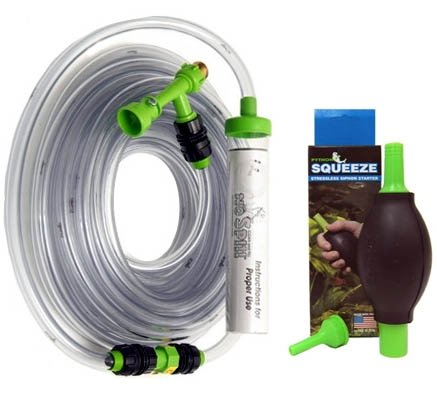 Python 50 ft. No Spill Clean & Fill and Squeeze Stressless Siphon Starter Bundle by Python
