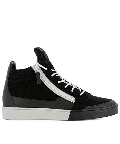 Giuseppe Zanotti Design Mens Rm80043001 Sneakers Alte In Camoscio Nero