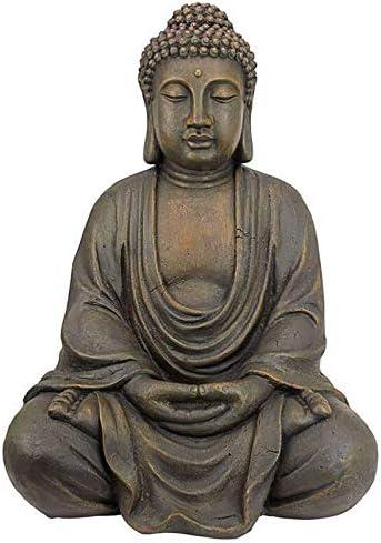 Estatua decorativa de interior Acabados antiguos 10/×6/×15 cm Buda decoracion de meditaci/ón