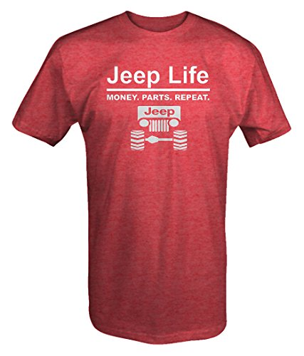 Shirts Tee Borat - Jeep Life - Money Parts Repeat T shirt - Large