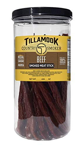 Tillamook Country Smoker All Natural, Real Hardwood Smoked Beef Stick, 1lb Jar (20 ct)