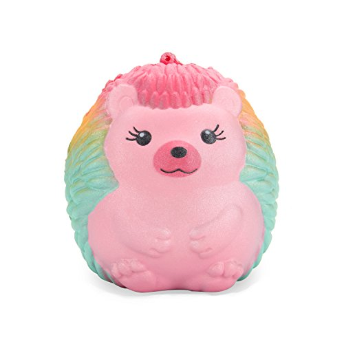BeYumi Rainbow Hedgehog Squishy Cream Scented Slow Rising Toy Soft Cute Simulation Animal Squeeze Toys for Collection Gift, Decorative Props Large or Stress Relief
