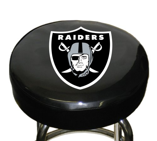 NFL Oakland Raiders Bar Stool Cover (Bar Stools Cover Seat)