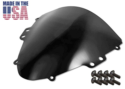 Sportbike Windscreens ADSW-202DS Dark Smoke Windscreen (Suzuki Gsxr 600/750 (04-05) With Silver screw kit),2 Pack