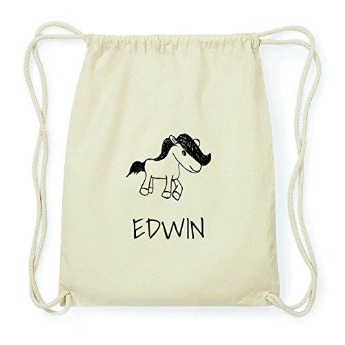 JOllipets EDWIN Hipster Turnbeutel Tasche Rucksack aus Baumwolle Design: Pony 7XqoK