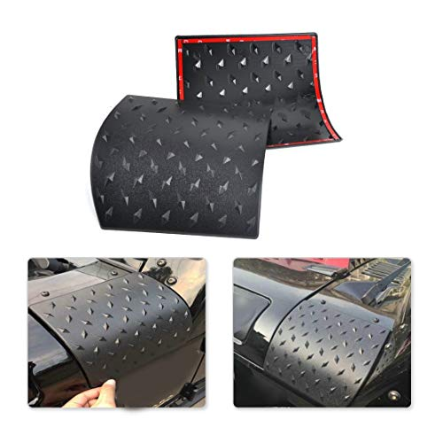 (Calap-Store - 2pcs Diamond Plate Side Cowl Body Armor Cover Trim fit for Jeep Wrangler Jk 2007 2008 2009 2011 2012 2013 214 2015)