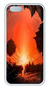 Fatasy Underground World Painting Customizable TPU Cases & Covers for iPhone 5S/5 - White