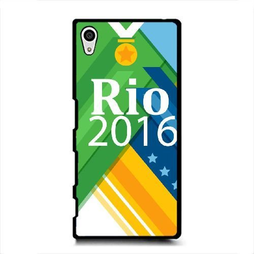 Price comparison product image Sony Xperia Z5 Case, Passionate Rio de Janeiro Olympic Games Pattern Durable Hard Plastic Scratch-Proof Protective Case, Black 01