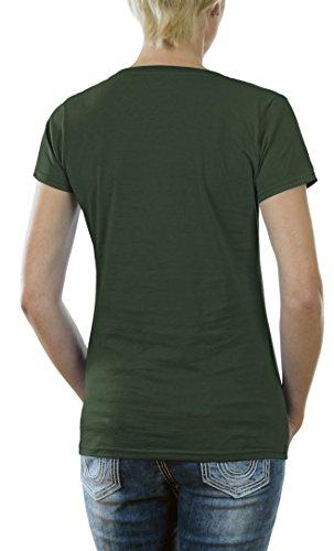 Touchlines D1623 - Camiseta para mujer Verde aceituna