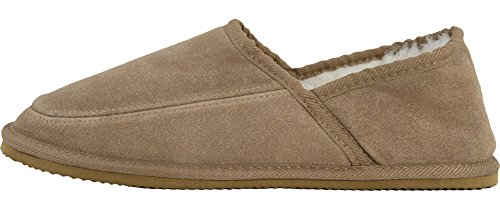 Bushga - Zapatillas de estar por casa de Ante para hombre Marrón - camel