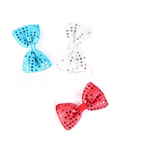 Mammoth Sales Set of 3 - Red White & Blue LED Light Up Flashing Bow Tie Ties