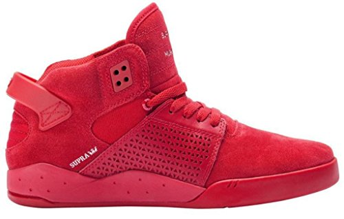 Supra Skytop III 3 Rouge Daim Hommes Hi Skate Formateurs Bottes