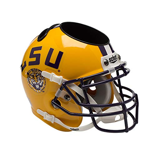 Schutt Sports LSU Tigers Football Helmet Desk Caddy Yellow