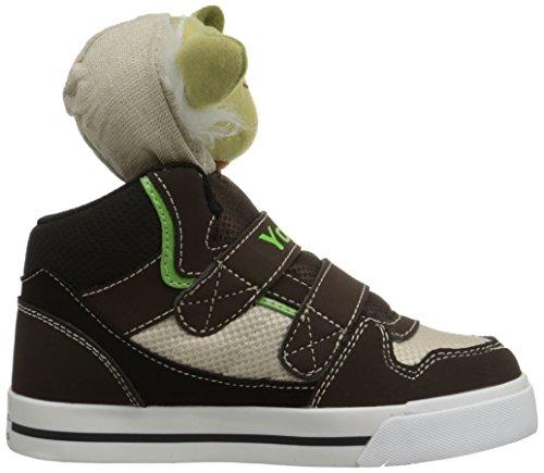 Skechers Kids Star Wars Yoda Plush Double-Strap Sneaker (Toddler) Chocolate/Taupe