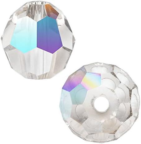 SWAROVSKI ELEMENTS Crystal #5000 Round Beads 4mm Crystal AB (12)
