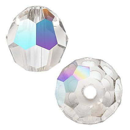 38381c24c Amazon.com: Swarovski Crystal Round 5000 8mm CRYSTAL AB Beads (8) 545002:  Home & Kitchen