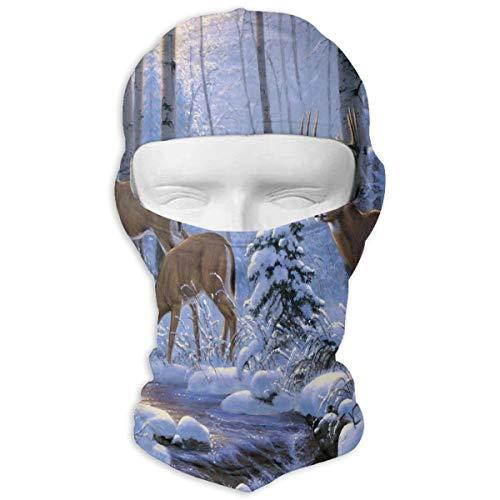 Balaclava Stylish Deer Full Face Masks UV Protection Ski Hat Headwear Motorcycle Neck Warmer Hood for Cycling Snowboard Women Men Youth