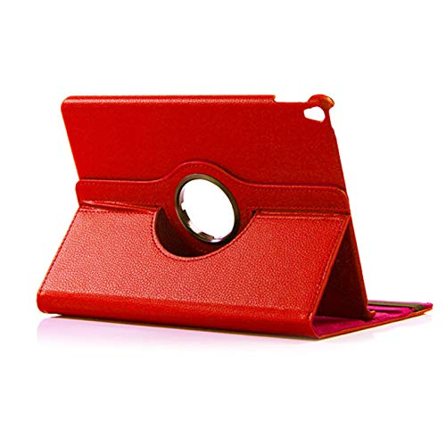 Beydodo Pu Leather 360 Degree Rotating Protective Case Compatible with Ipad 10.5 Case Notebook Red Case Compatible for iPad Pro 10.5 with Auto -
