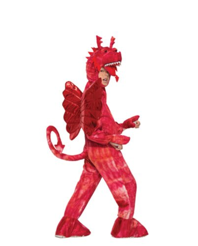 Forum Novelties Kids Red Dragon Costume, Red, Small (Kids Plush Dinosaur Wings Costume)