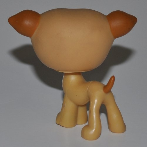 Greyhound #498 Tan LPS Collectible Replacement Figure Pink Flower on Head OOP Out of Package /& Print Littlest Pet Shop Loose Retired Hasbro Collector Toy