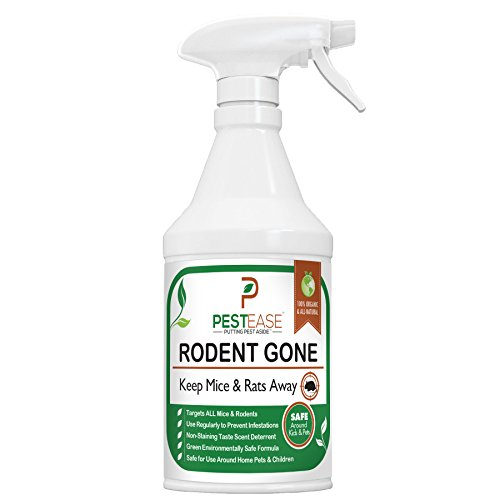 PestEase Natural Organic Mice Repellent Spray Humane Mouse Trap Substitute - 16 oz Spray Works For All Types of Mice & Rats (Natural Rat Repellent)