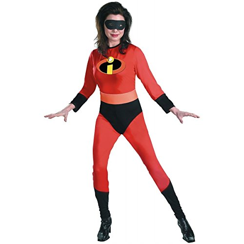 [Incredibles Mrs Incredible Women's Jumpsuit Disney Costume] (The Incredibles Mrs Incredible Costumes)