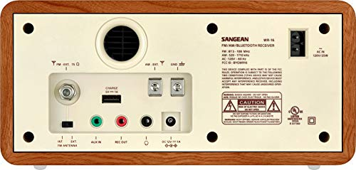 Sangean WR-16 AM/FM/Bluetooth Wooden Cabinet Radio with USB Phone Charging by Sangean (Image #1)